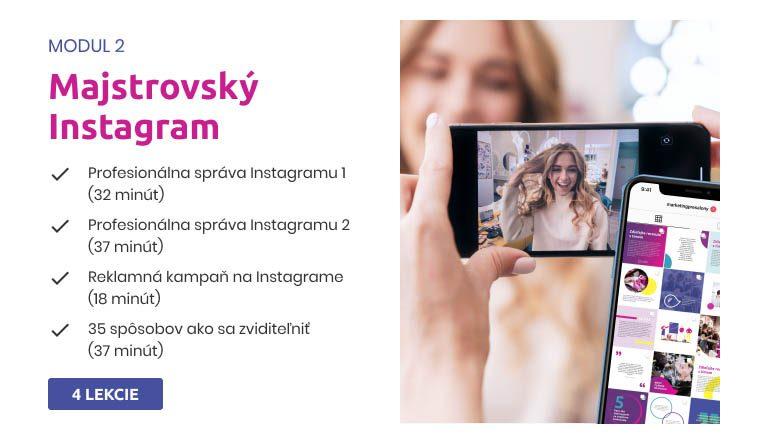 Marketing pre salóny - kurz Majstrovský Instagram