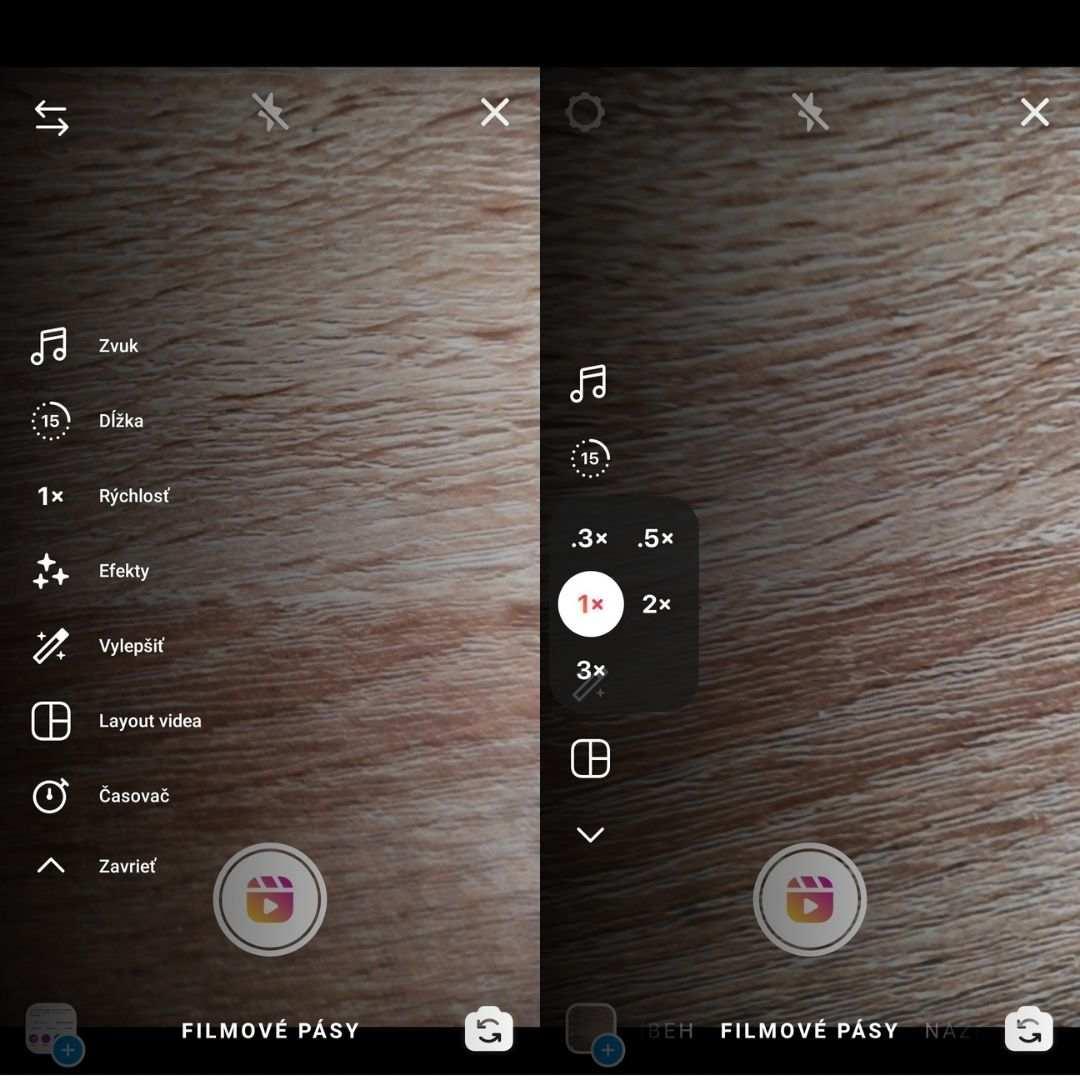 Návod ako nastaviť dĺžku a rýchlosť Instagram reels