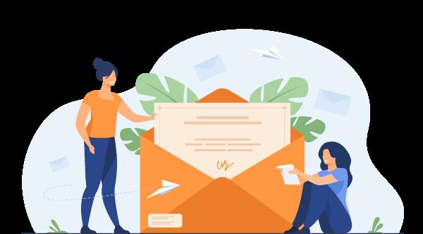 ilustrácia-dve-ženy-čítajú-poštu