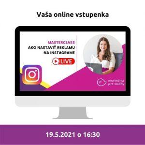 vstupenka na masterclass instagram reklama