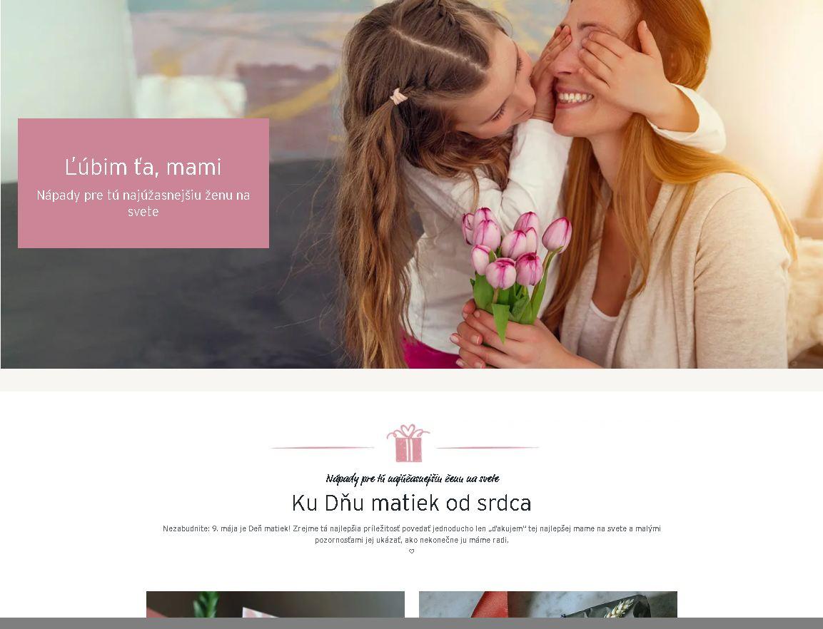 E-shop Tchibo - Deň matiek - darčeky